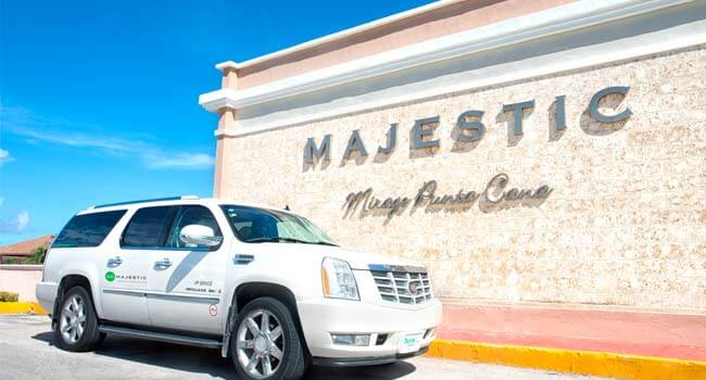 airport transfer gomajestic majestic resorts