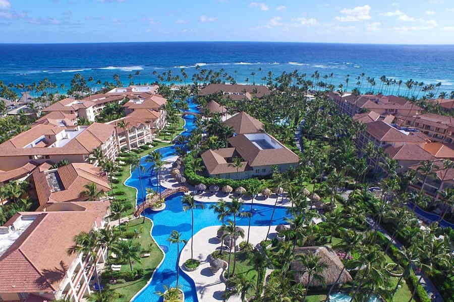 majestic colonial punta cana aerial view