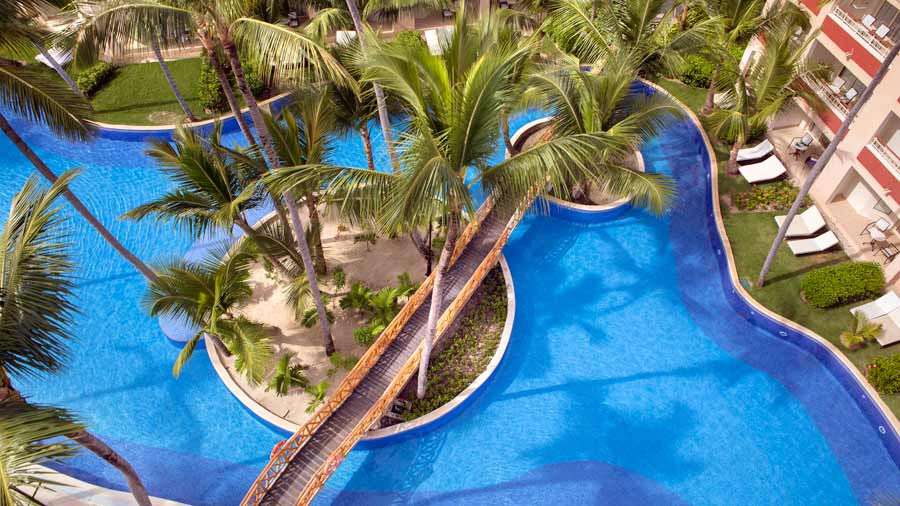 majestic elegance punta cana aereal view swimming pools