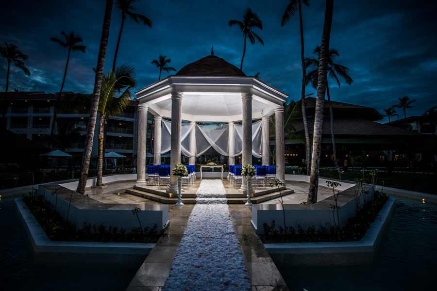 majestic mirage punta cana gazebo night